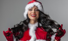 Woman in Santa style costume